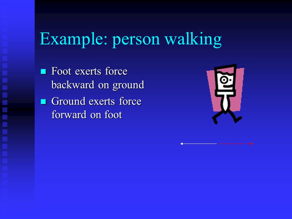Example: person walking