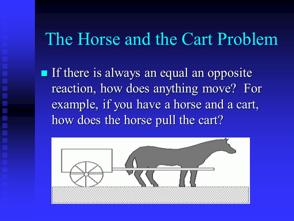 The Horse and the Cart Problem