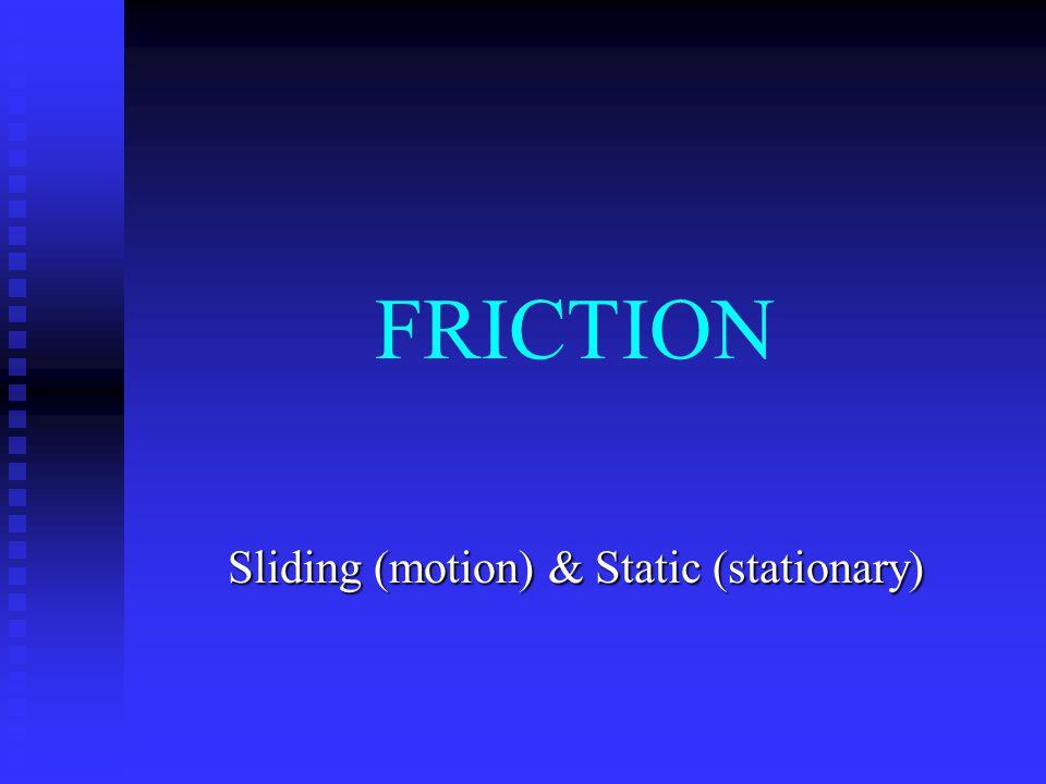 Sliding (motion) & Static (stationary)
