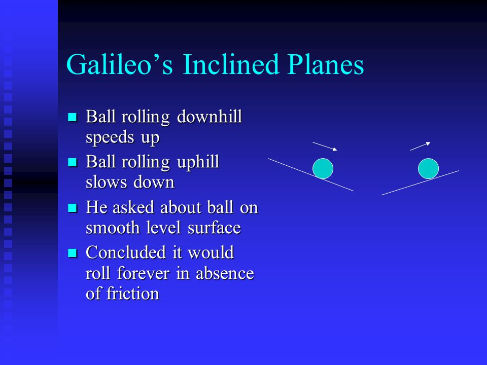 Galileo's Inclined Planes