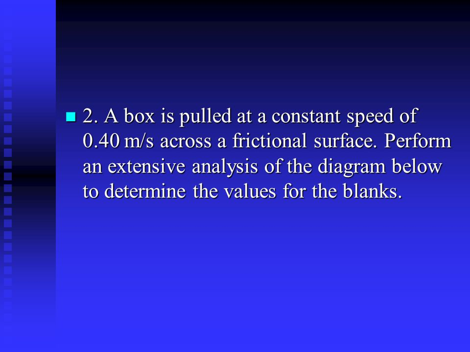 2. A box is pulled at a constant speed of 0