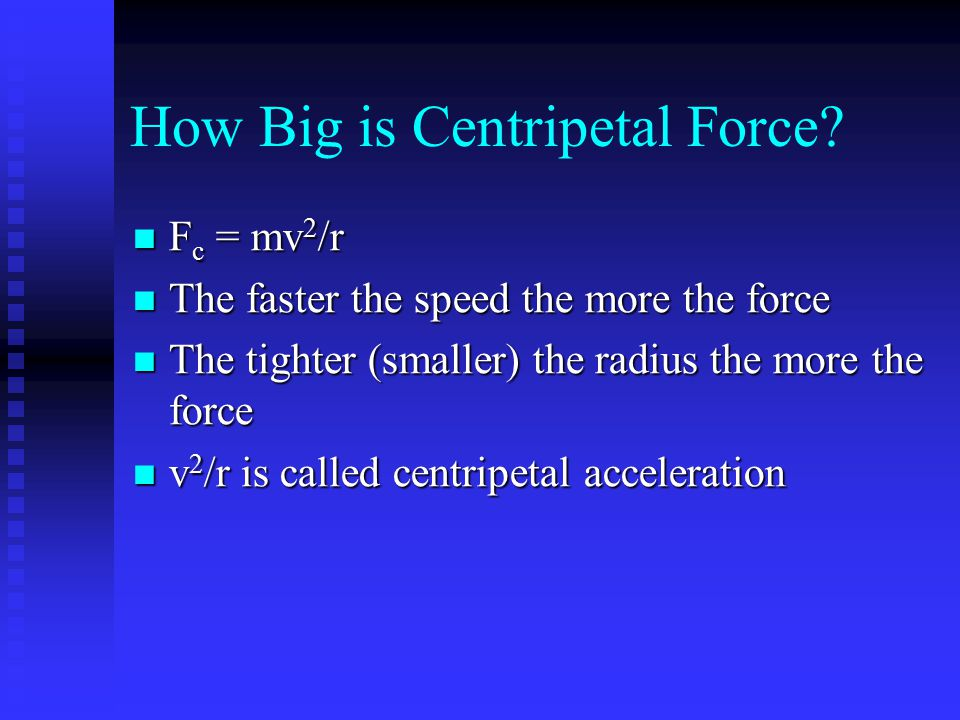 How Big is Centripetal Force