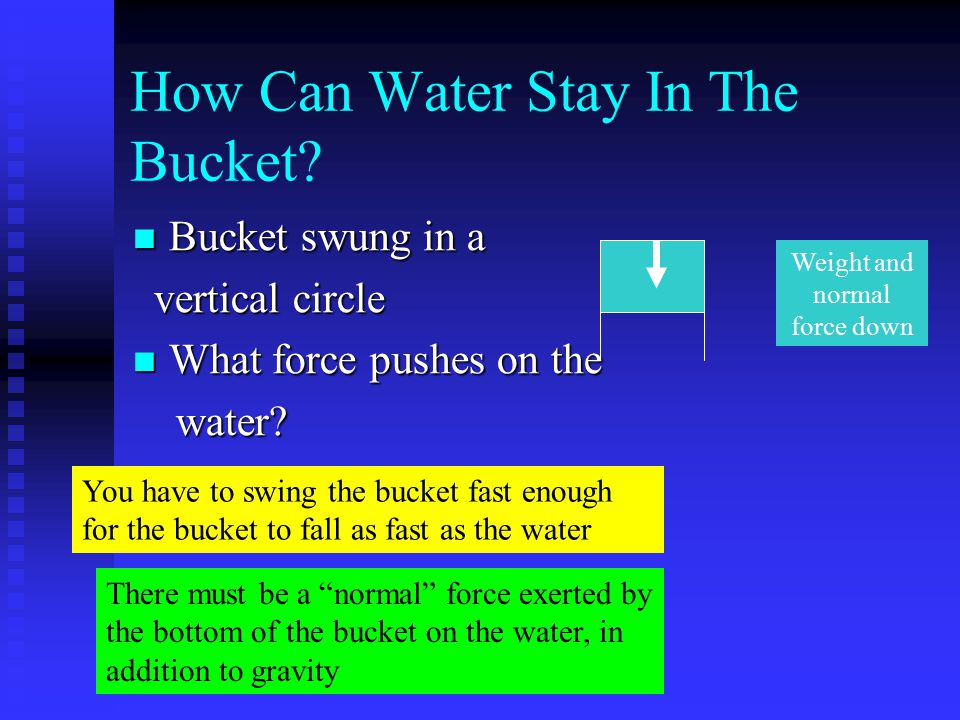 How Can Water Stay In The Bucket