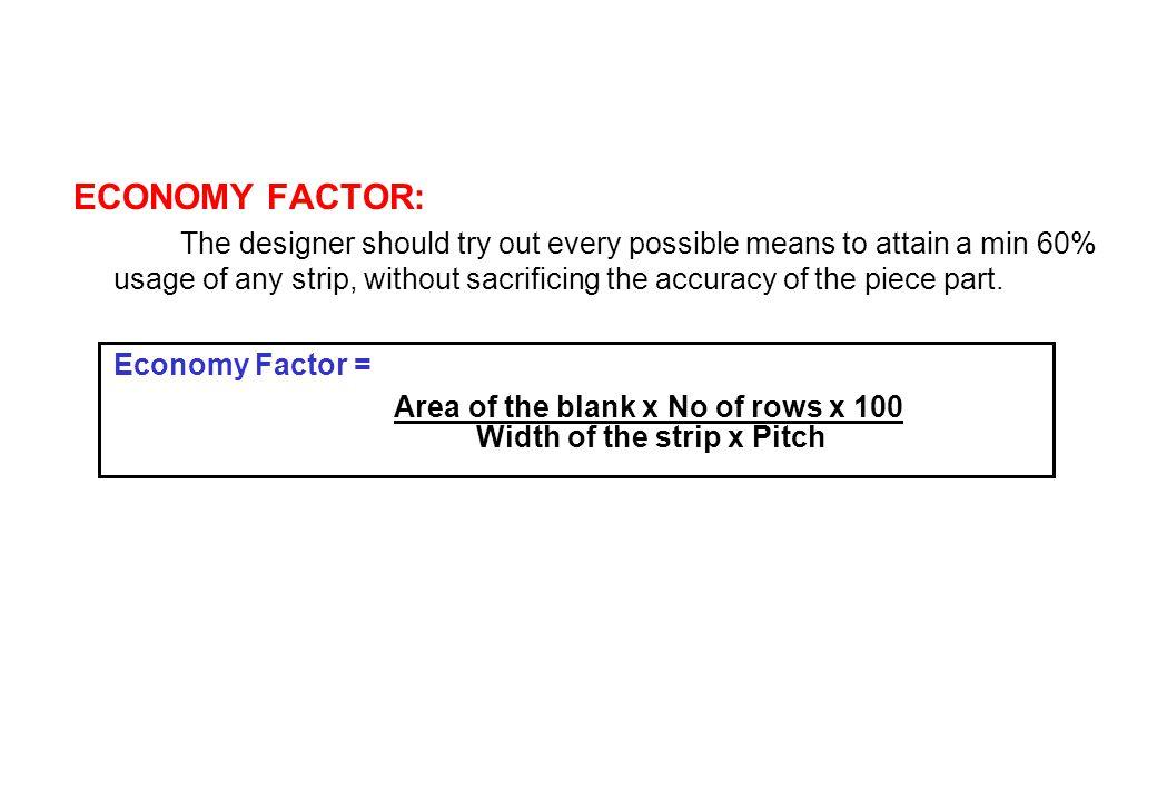 ECONOMY FACTOR: