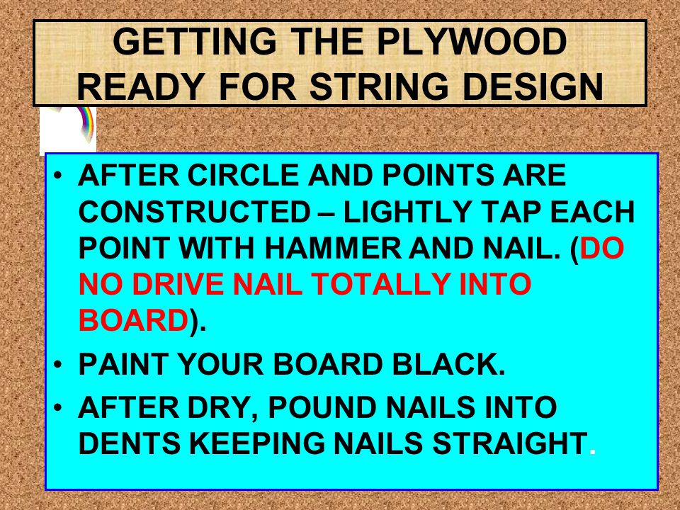 GETTING THE PLYWOOD READY FOR STRING DESIGN