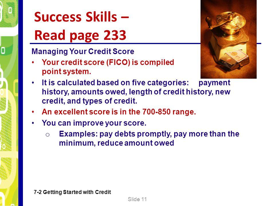 Success Skills – Read page 233