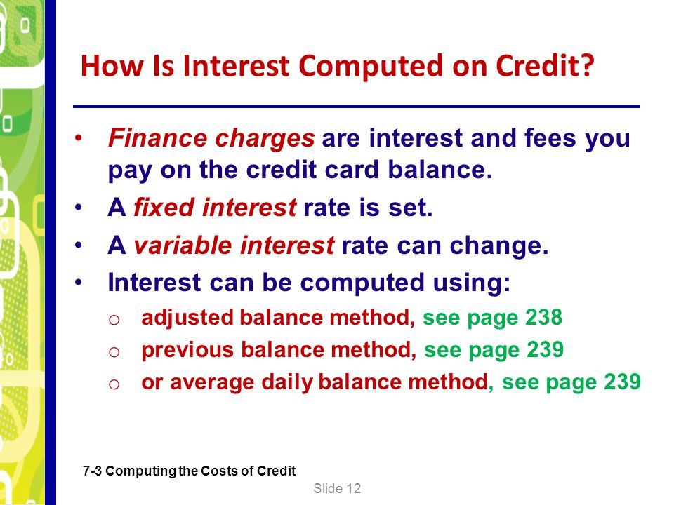 How Is Interest Computed on Credit