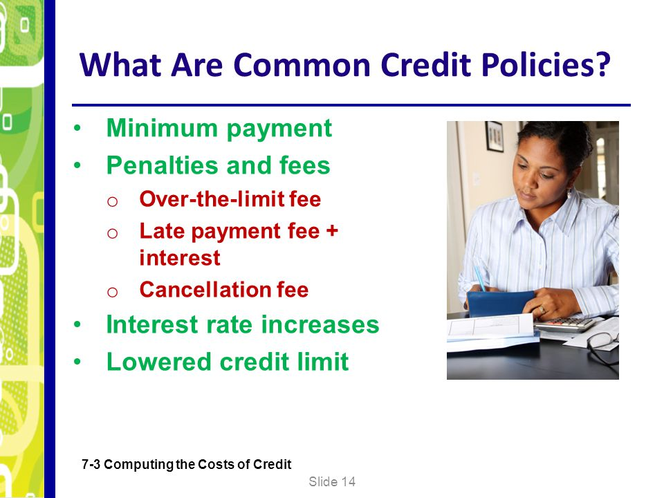 What Are Common Credit Policies