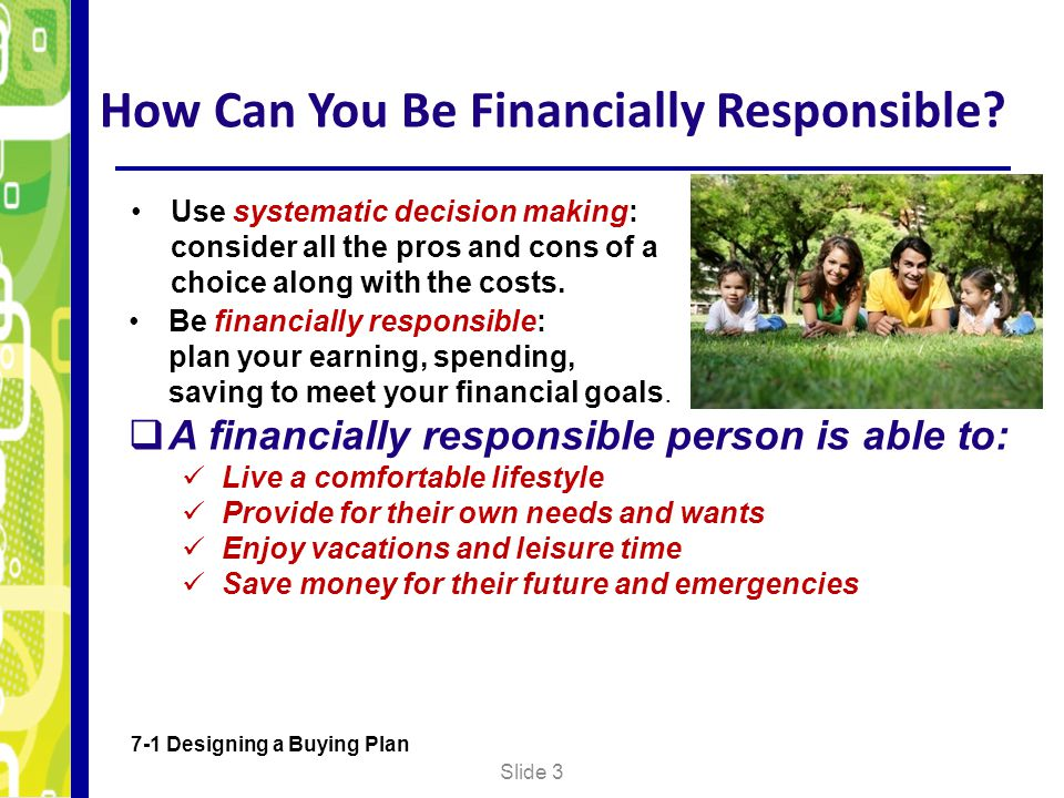 How Can You Be Financially Responsible