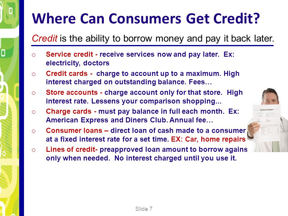 Where Can Consumers Get Credit