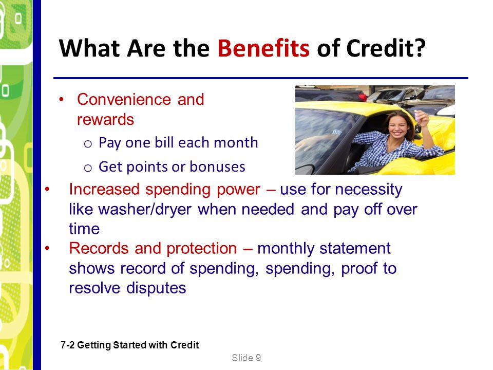 What Are the Benefits of Credit