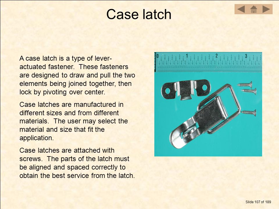 Case latch