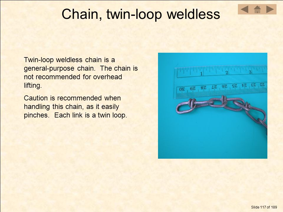 Chain, twin-loop weldless