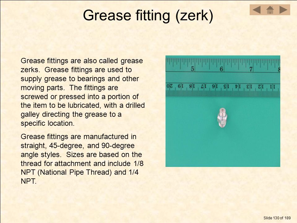 Grease fitting (zerk)