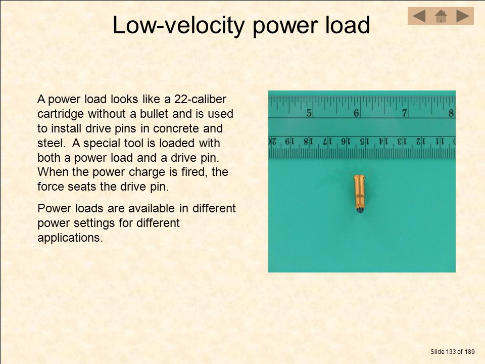 Low-velocity power load