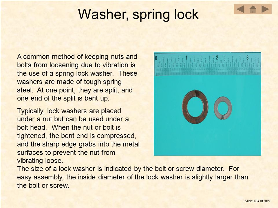 Washer, spring lock
