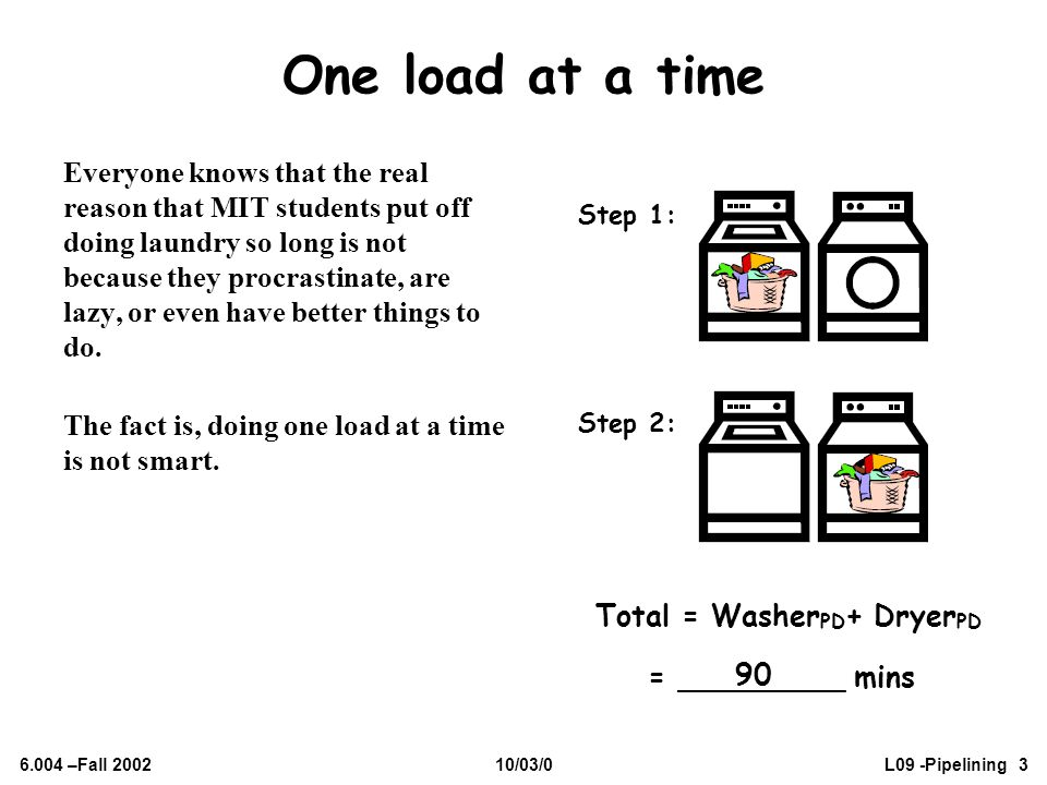 One load at a time