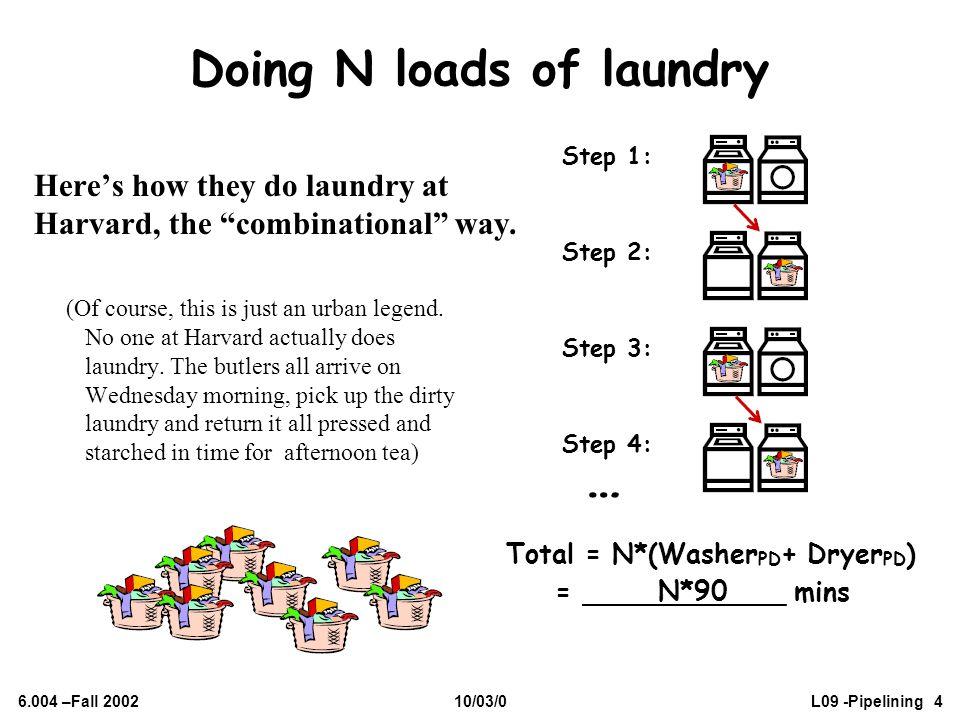 Doing N loads of laundry