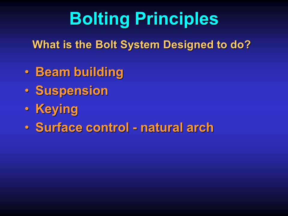 What is the Bolt System Designed to do
