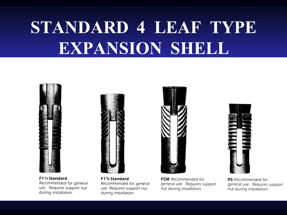 STANDARD 4 LEAF TYPE EXPANSION SHELL