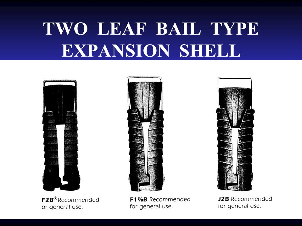 TWO LEAF BAIL TYPE EXPANSION SHELL