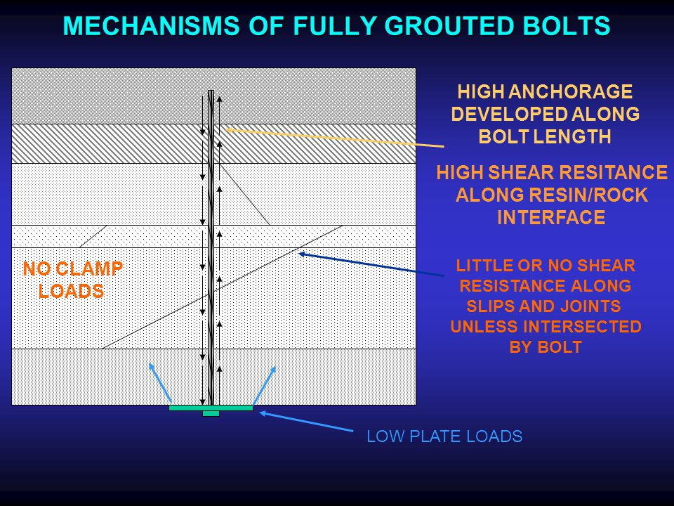 MECHANISMS OF FULLY GROUTED BOLTS