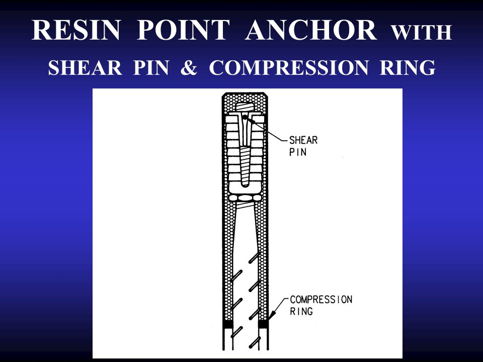 RESIN POINT ANCHOR WITH SHEAR PIN & COMPRESSION RING