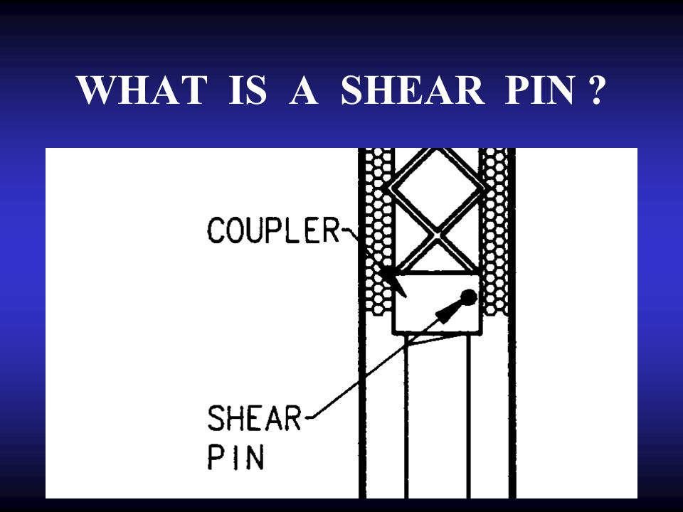WHAT IS A SHEAR PIN