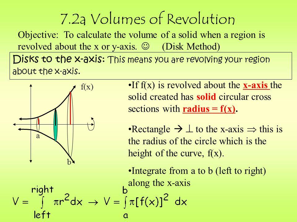 7.2a Volumes of Revolution
