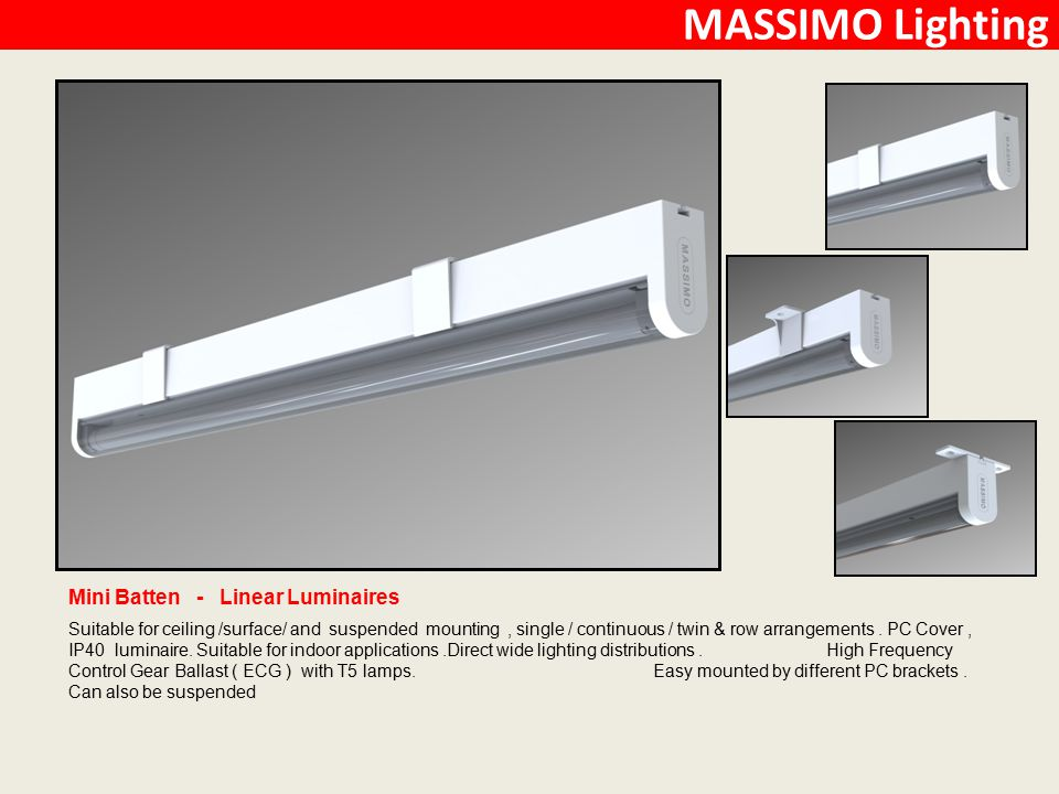 MASSIMO Lighting Mini Batten - Linear Luminaires