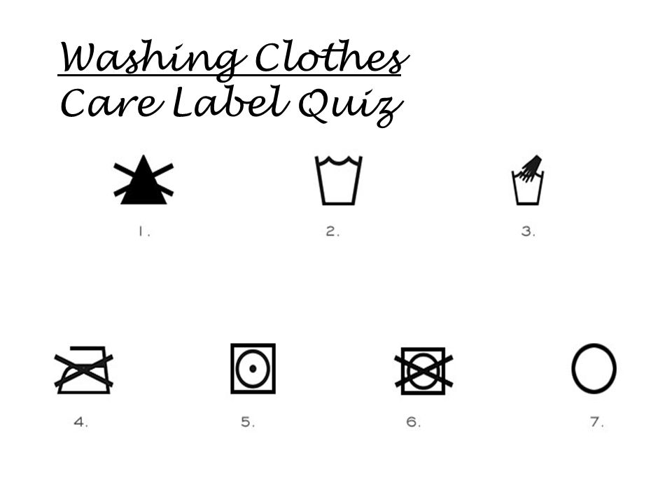 Washing Clothes Care Label Quiz