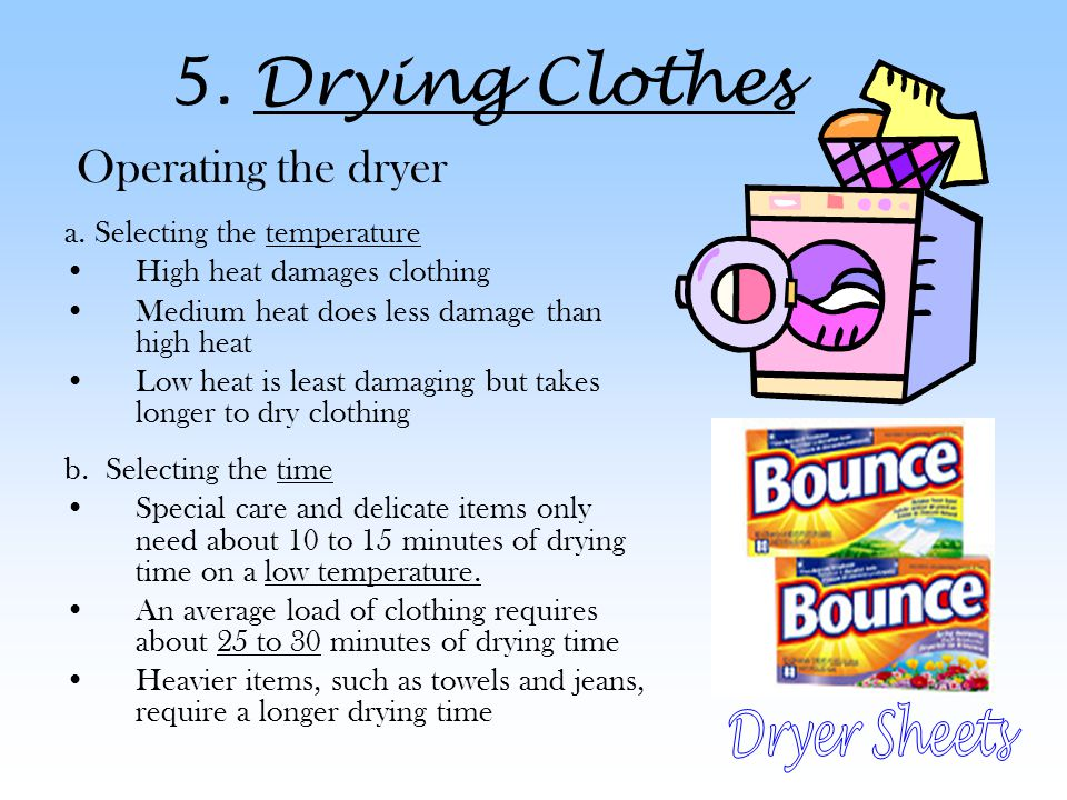 5. Drying Clothes Dryer Sheets Operating the dryer