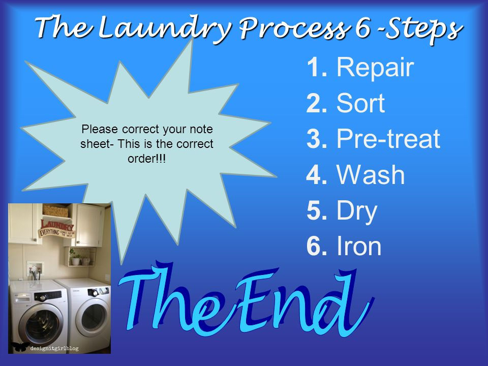 The Laundry Process 6-Steps