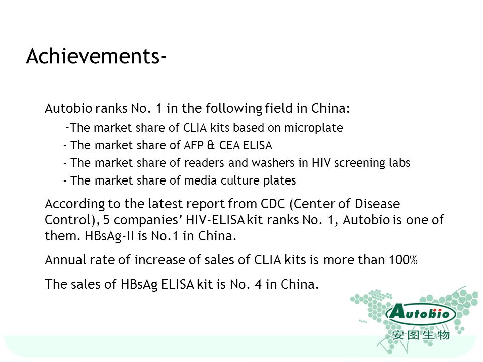 Achievements- Autobio ranks No. 1 in the following field in China: