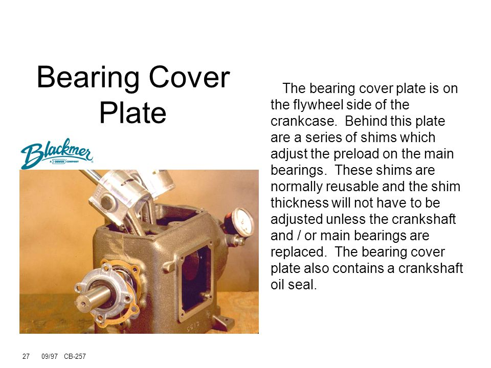 Bearing Cover Plate