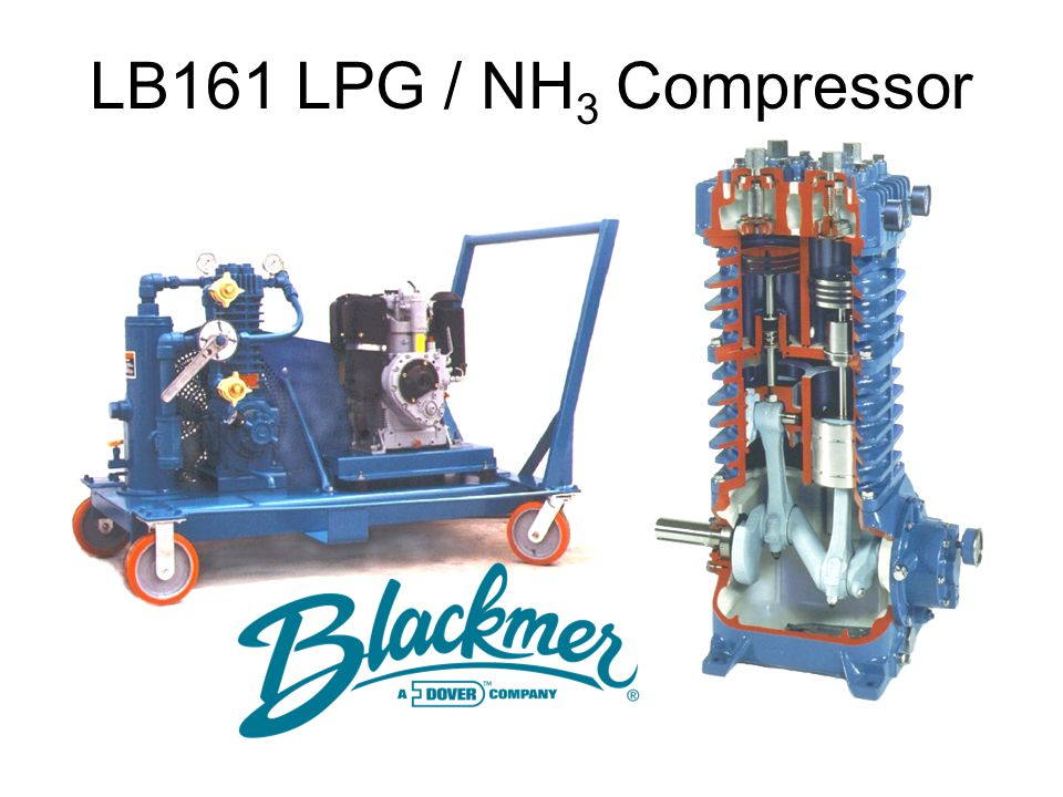 LB161 LPG / NH3 Compressor These slides give a simplified description of the disassembly of a Blackmer HD372A.