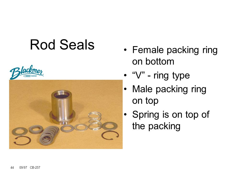 Rod Seals Female packing ring on bottom V - ring type