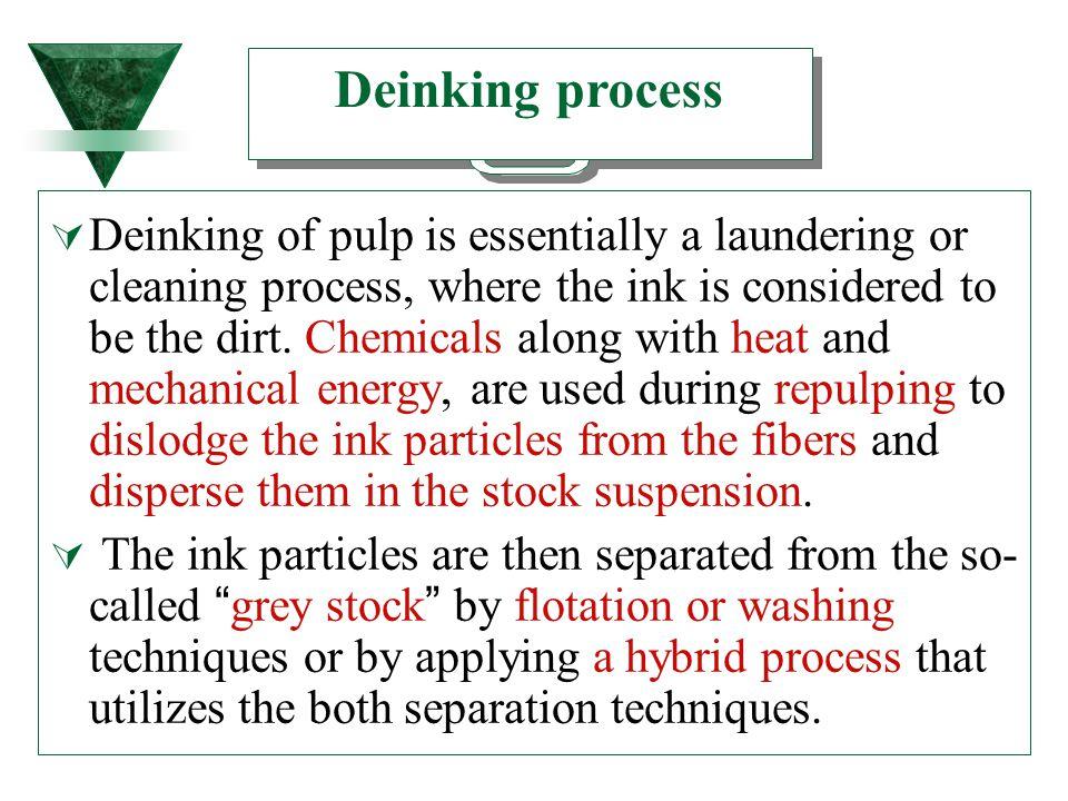 Deinking process