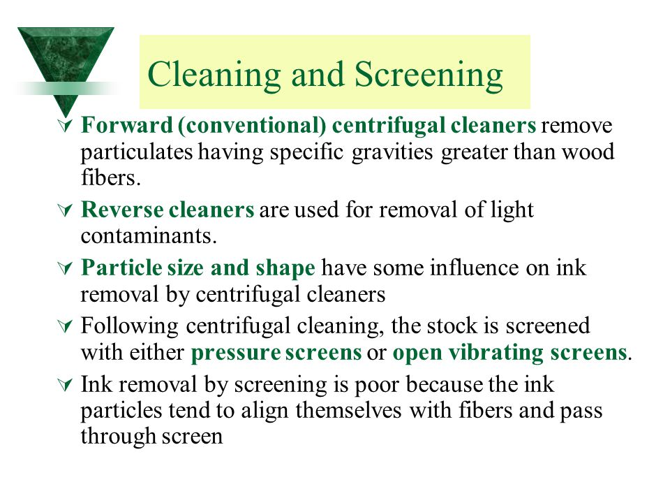Cleaning and Screening