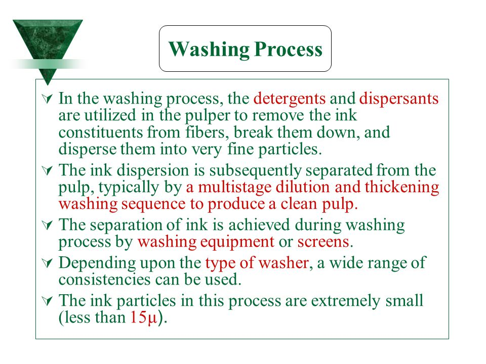 Washing Process