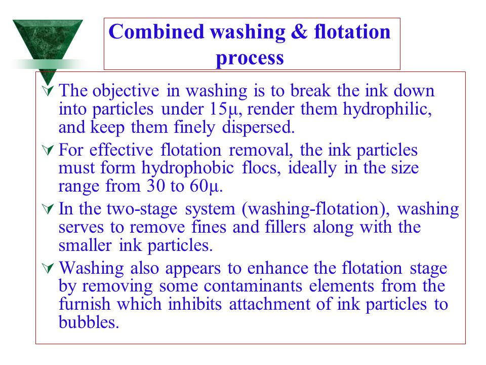 Combined washing & flotation process