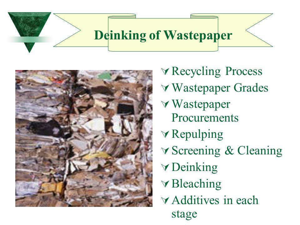 Deinking of Wastepaper