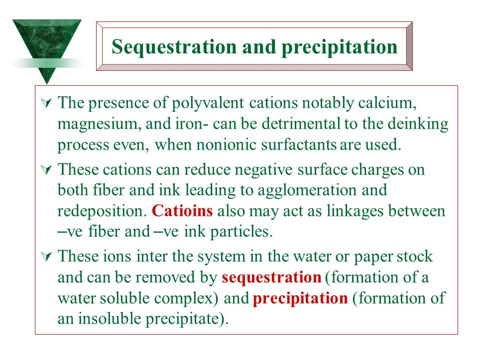 Sequestration and precipitation