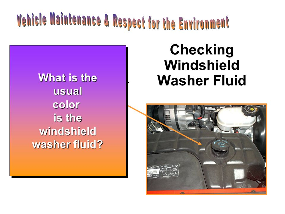 Checking Windshield Washer Fluid