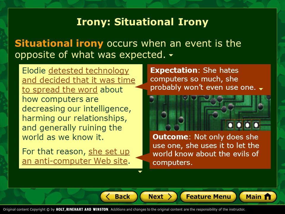 Irony: Situational Irony