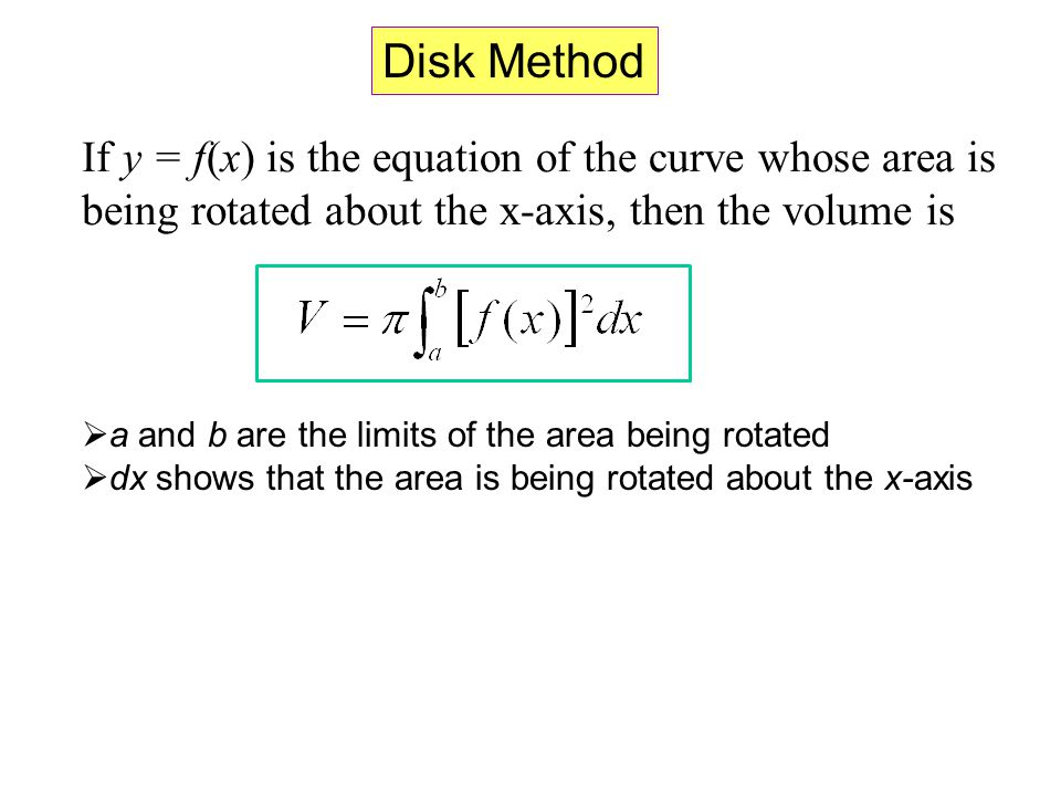 Volume the disk method ppt video online download 4 disk method ccuart Gallery