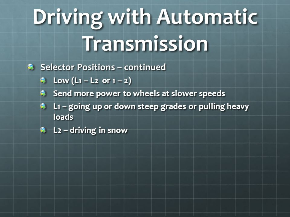 Driving with Automatic Transmission