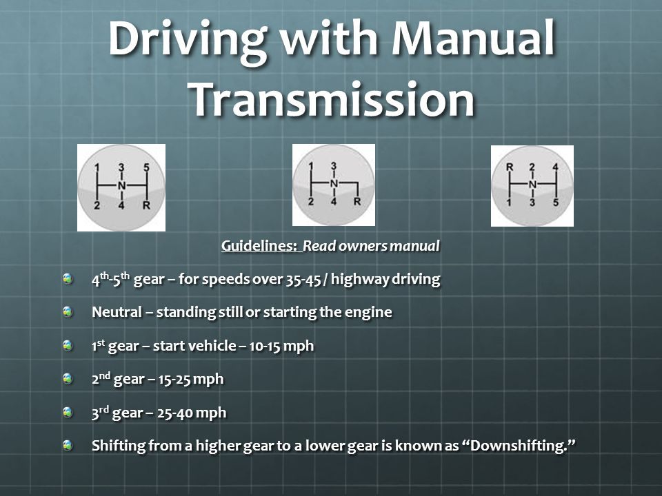 Driving with Manual Transmission