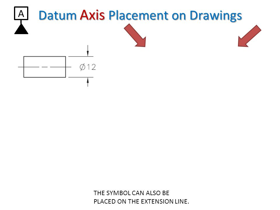 Datum Axis Placement on Drawings