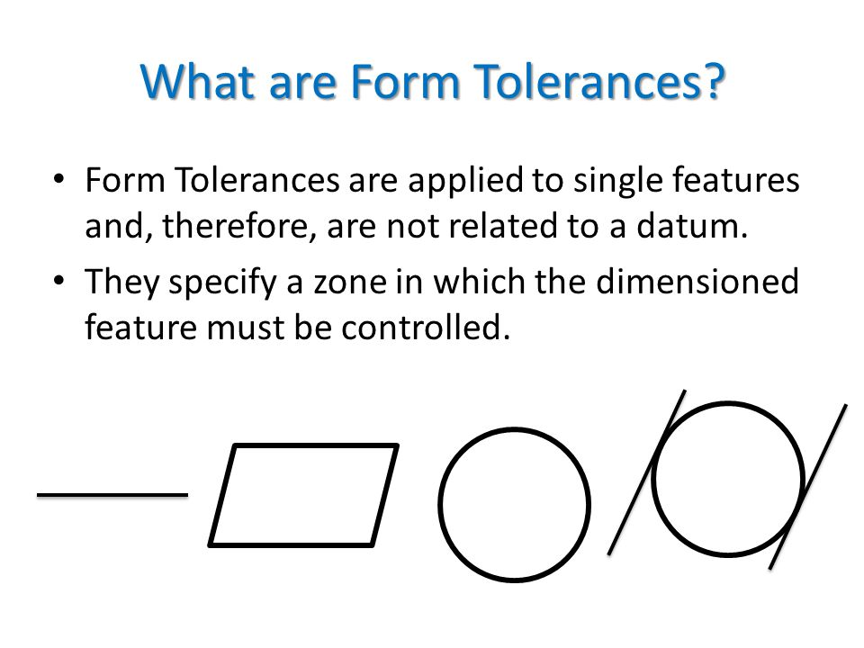 What are Form Tolerances